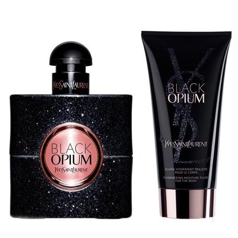 BLACK OPIUM by YVES SAINT LAURENT 50ml + FREE Shimmering Moisture Fluid
